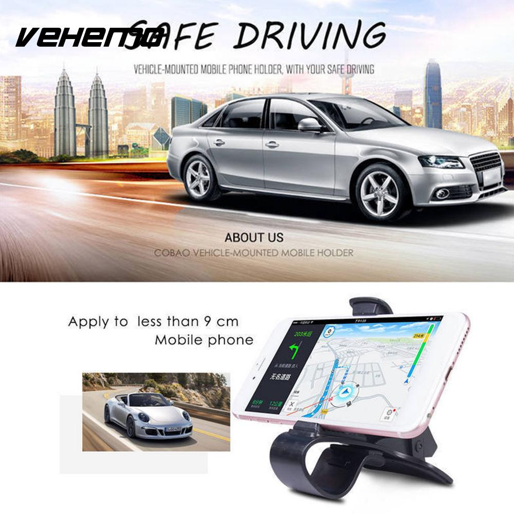 Vehemo ABS Black GPS Mount Holder Stand Cell Phone Phone Holder Car Interior Cradle Facility HUD Design