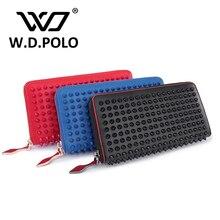 W. D. POLO Neue farbe rock stud frauen-echtes leder brieftasche hohe chic marke design dame standard brieftaschen einfach kupplung hand bagM2322