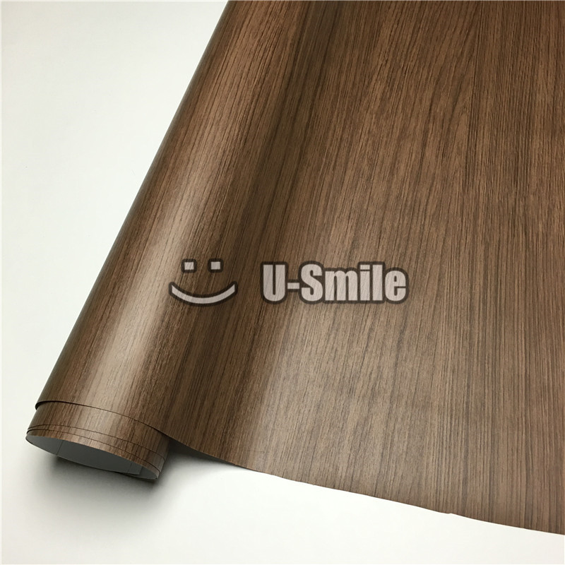 Feuille de Film d'enveloppe de vinyle de Grain en bois de chêne pour l'intérieur de voiture de meubles de mur taille: 1.24X50 m/Roll (4ftX165ft)