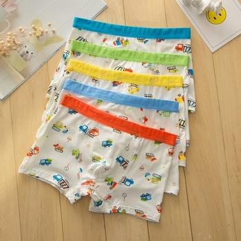 10pc/lot Cartoon  Boys Boxer Modal Soft Children's Underwear Boy Modal Boxer Cartoon Print Car Suit 2-10 Years