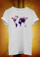 World Map Galaxy Space Cool Hipster Men Women Unisex T Shirt  Top Vest 863 New Shirts Funny Tops Tee