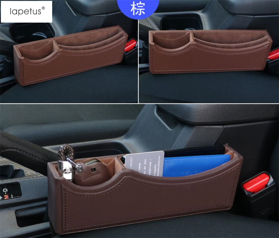 Lapetus Accessories For Land Rover Discovery Sport / Evoque Seat Gap Container Storage Box Phone Tray Accessory Cover Kit 1 Pcs