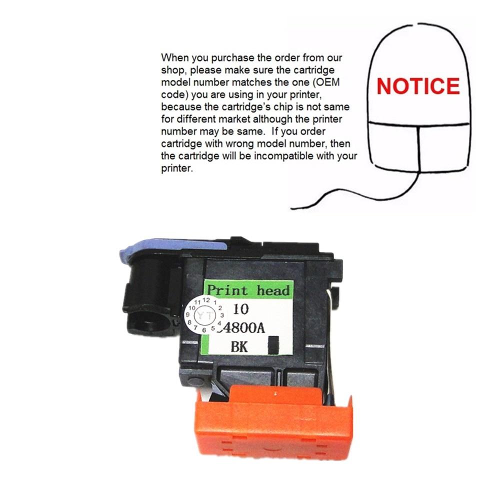 YOTAT 1 unids BK remanufacturado 10 cabezal de impresión C4800A para - Electrónica de oficina