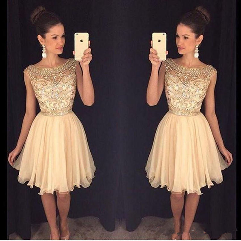 Mini Short   Cocktail     Dress   Crystal Beaded Sweet 16 Graduation   Dresses   Chiffon Short Homecoming   Dresses   Prom Party   Dresses