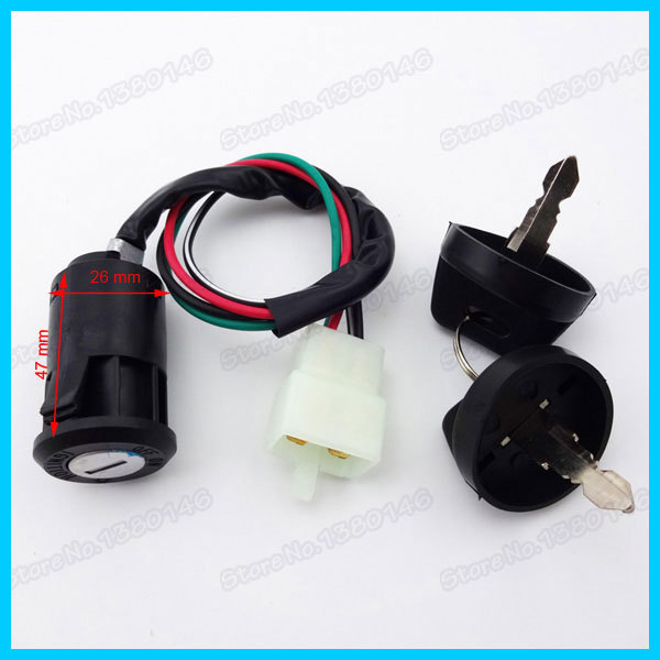 Alert Xlsion 4 Pin Kill Ignition Key Switch For 50cc 70cc 90cc 110cc 125cc Engine Chinese Atv 4 Wheeler Quad Go Kart Kazuma Taotao Motorcycle Accessories & Parts