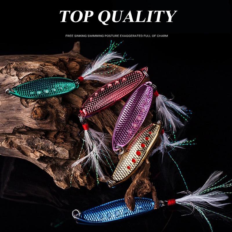 1pc 5 Ngjyra Lugë joshëse 15g-10g-7g 4.5cm-5cm-6cm Peshkim Metal - Peshkimi