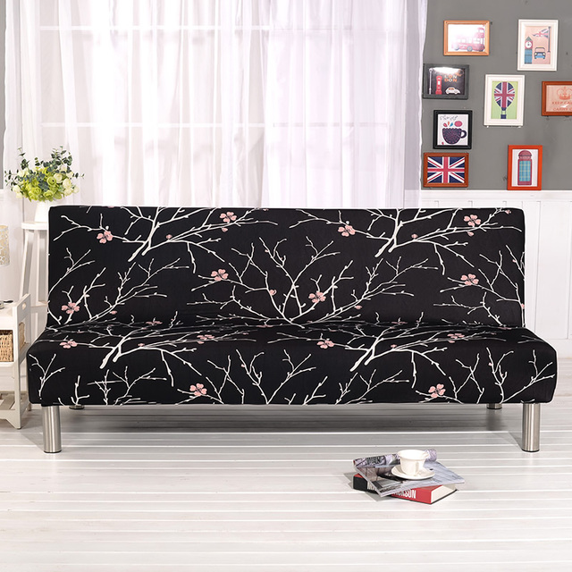 sofa bed covers klippan cover pattern foldable black background couch printed seat stretch furniture slipcover armless home decoration