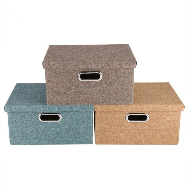 Foldable Fabric Clothes Storage Bin Basket Organizer For Home Clothes Towel  Laundry Box Cosmetics Storage Box