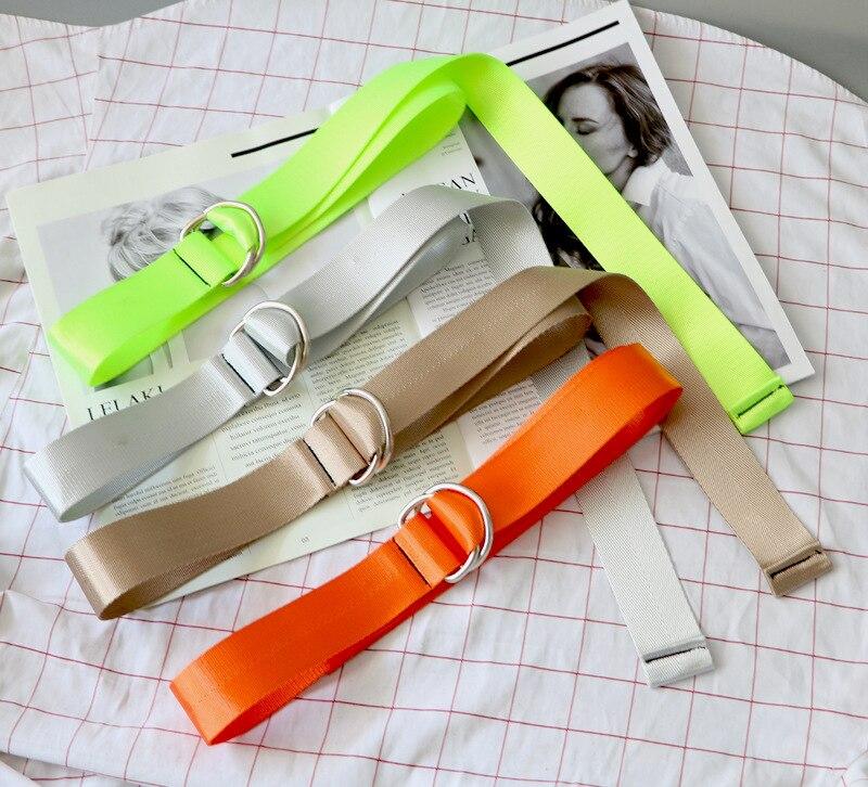 Men Women Unisex Plain Webbing Cotton Canvas Metal Buckle Belt High Quality Belts Male Luxury Casual Straps Ceintures FB70