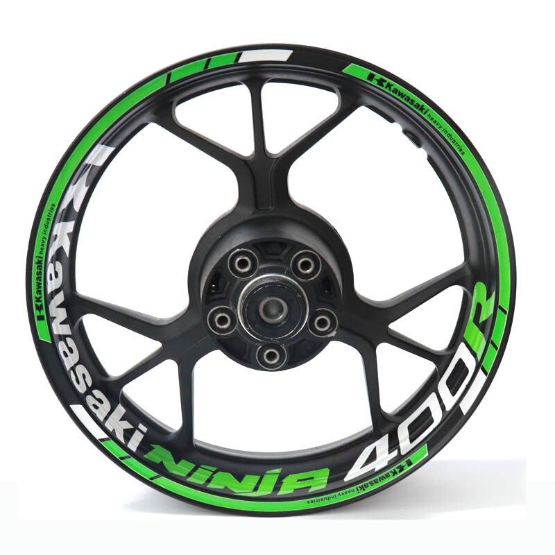 New High Quality  Fit Motorcycle Wheel Sticker Stripe Reflective Rim For Kawasaki Ninja 400 Ninja400 NINJA400R Ninja400r