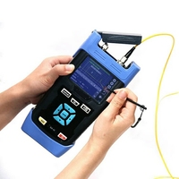 Mini Digital Optical Fiber OTDR Tester QX45 Singlemode OTDR 1310nm/1550nm 32/30dB with English/Portuguese/Spanish Language