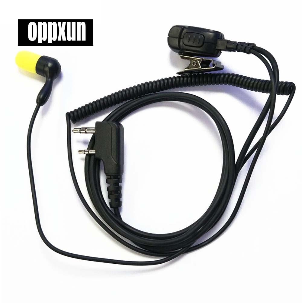 2 Pin Foam Slow Rebound Earbud Earpiece Mic PTT Headset for Kenwood Baofeng TYT WOUXUN font