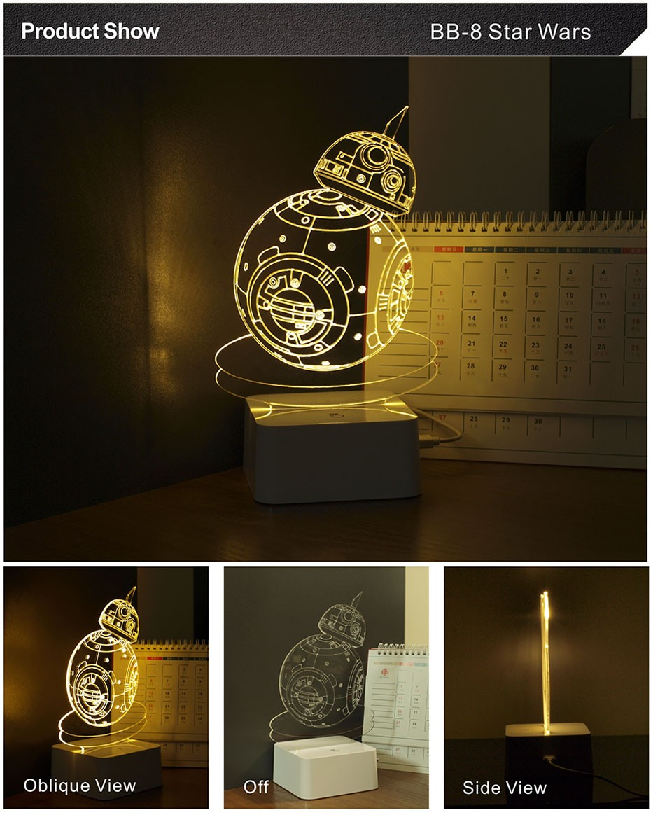 Star was Series Led 3D Night Light 5 light colors available  (15)