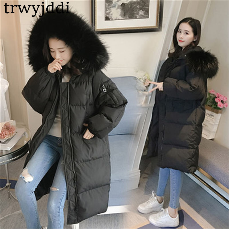 2018 Winter Coat Women Cotton Clothes Winter Casual Thickening Warm Hooded Cotton Jacket Women   Parkas   Female Coats A15780