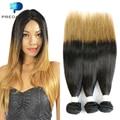 Cheap 1b 27 Ombre Brazilian Virgin Straight Hair 4 Bundles Ombre Blonde Human Hair Weave 2 Tone Tissage Bresilienne ms lula hair