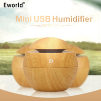 Eworld Essential Oil Diffuser Mini Wooden Aromatherapy Humidifiers Aroma Air Purifier Ultrasonic Mist Maker For Office