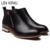 LIN REI Alta Qualidade Homens Elegantes Botas Curtas de Alta Genuína Sapatos de Couro Moda Homens Quentes Zipper Oxfords de Inverno Botas Masculinas
