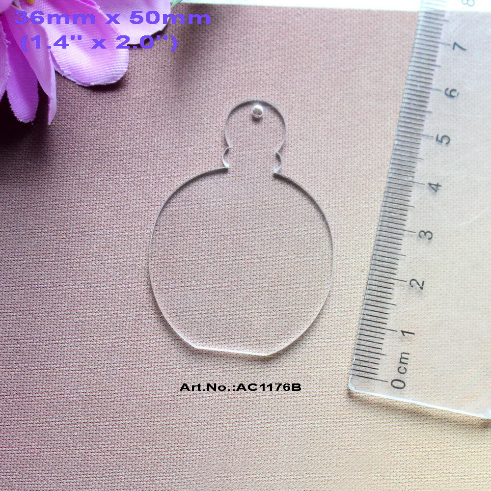Acrylic clear ornaments -  30pcs Lot 50mm Blank Clear Acrylic Perfumes Bottle Key Chain Gift Ornaments Laser