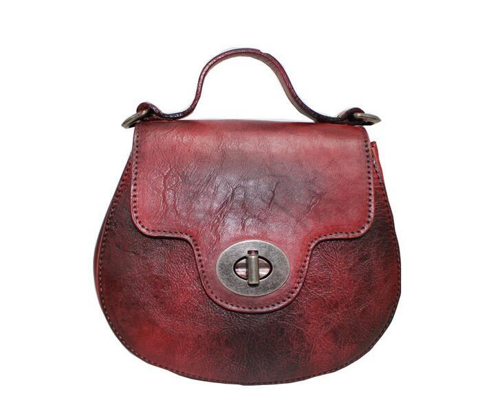 Genuine leather mini women's handbag street Vintage female one shoulder Cowhide Small casual all-match messenger bags