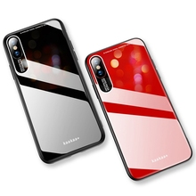 Soft TPU Acrylic Phone Case For iPhone XS/XS MAX/XR Simple Style Cover