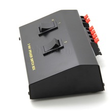 2 Way Pair Speaker Selector Switch Switcher Switching Box Splitter