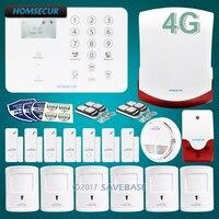 Homsecur Беспроводной 4 г SMS Автодозвон ЖК дисплей дома охранной сигнализации Системы + IOS/Android App