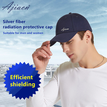 Ajiacn Recommend electromagnetic radiation protective cap EMF shielding unisex Summer sun protection anti radiation baseball cap