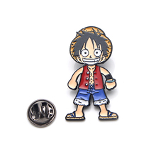 Patchfan ONE PIECE Luffy Zinc tie cartoon Funny Pins backpack clothes brooches for men women hat decoration badges medals A1886