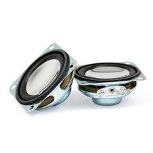 AIYIMA 2 шт. 1,5 дюйма портативная аудио Колонка сильные магнитные динамики 8 Ом 2 Вт 40 мм мини коническая колонка из ПУ