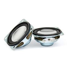 AIYIMA 2PC 1.5 Inch Portable Audio Speaker Strong Magnetic Speakers 8 Ohm 2W 40MM Mini PU Edge Cone Loudspeaker Column