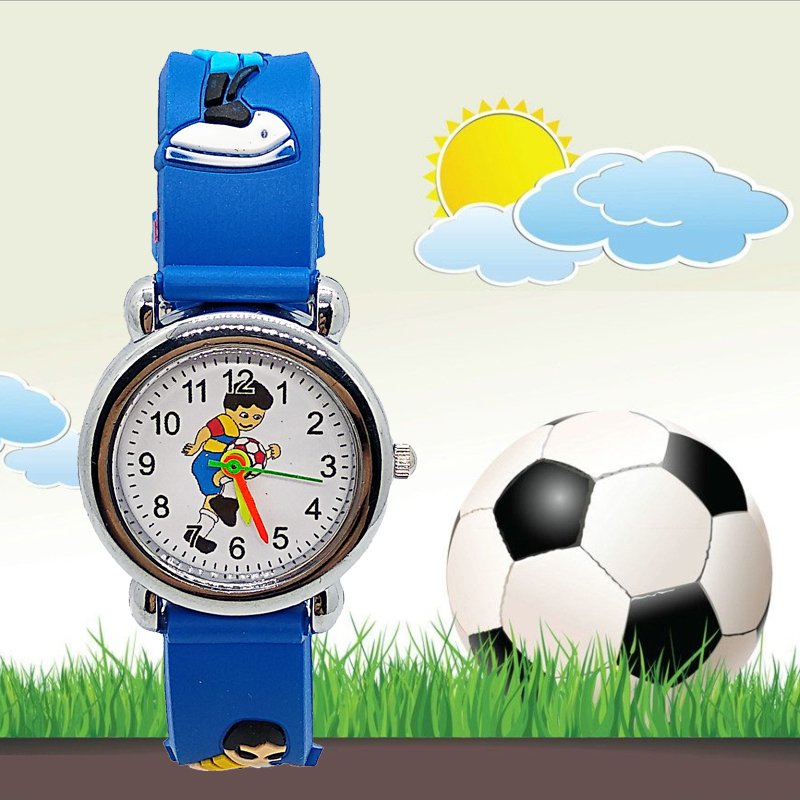 Fashion Silicone Football Kids Watches Children Girls Boys Students Clock Child Sports Watch Quartz Wristwatch Relogio Kol Saati