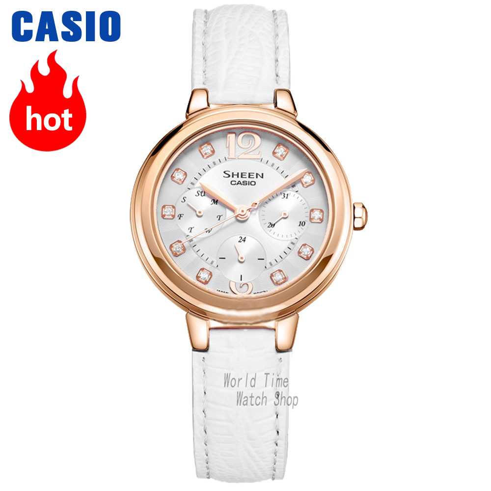 Casio watch waterproof quartz watch SHE-3048PGL-6A SHE-3048PGL-7A футболка мужская adidas freelift ak цвет зеленый bk6105 размер xxl 60 62