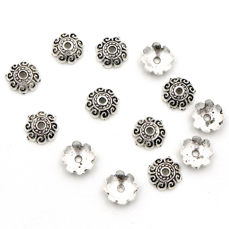 Retro Sun Crimp Flower Loose Spacer Bead Caps For Jewelry Making  Finding Handmade Diy Necklace Accessories Wholesale
