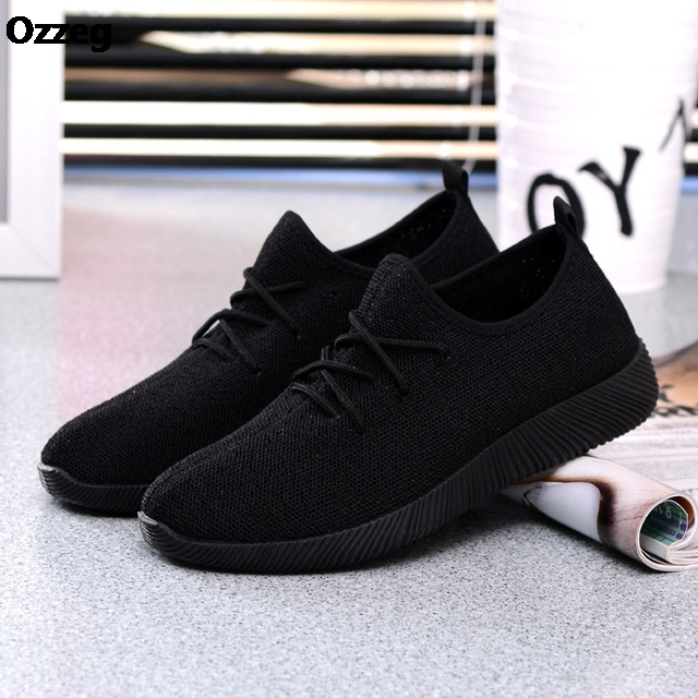 2018 Hot Women Sneakers Platform Shoes Breathable Summer 2018 New Casual Lightweight Shoes Slip on Flats Black Net Shoes Female hzxinlive 2018 flat shoes women breathable flats shoes for women ladies casual platform female fashion summer sneakers footwear
