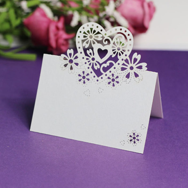 12 Pcs Party Direction Signs Pearlescent Paper Love Heart Wedding Birthday Christmas Table Name Cards Party Decoration Supplies image