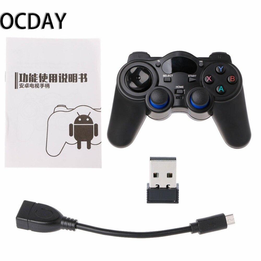 2.4G Sans Fil de Jeu Joystick Controller Gamepad Pour Android Tablet PC Smart TV Box