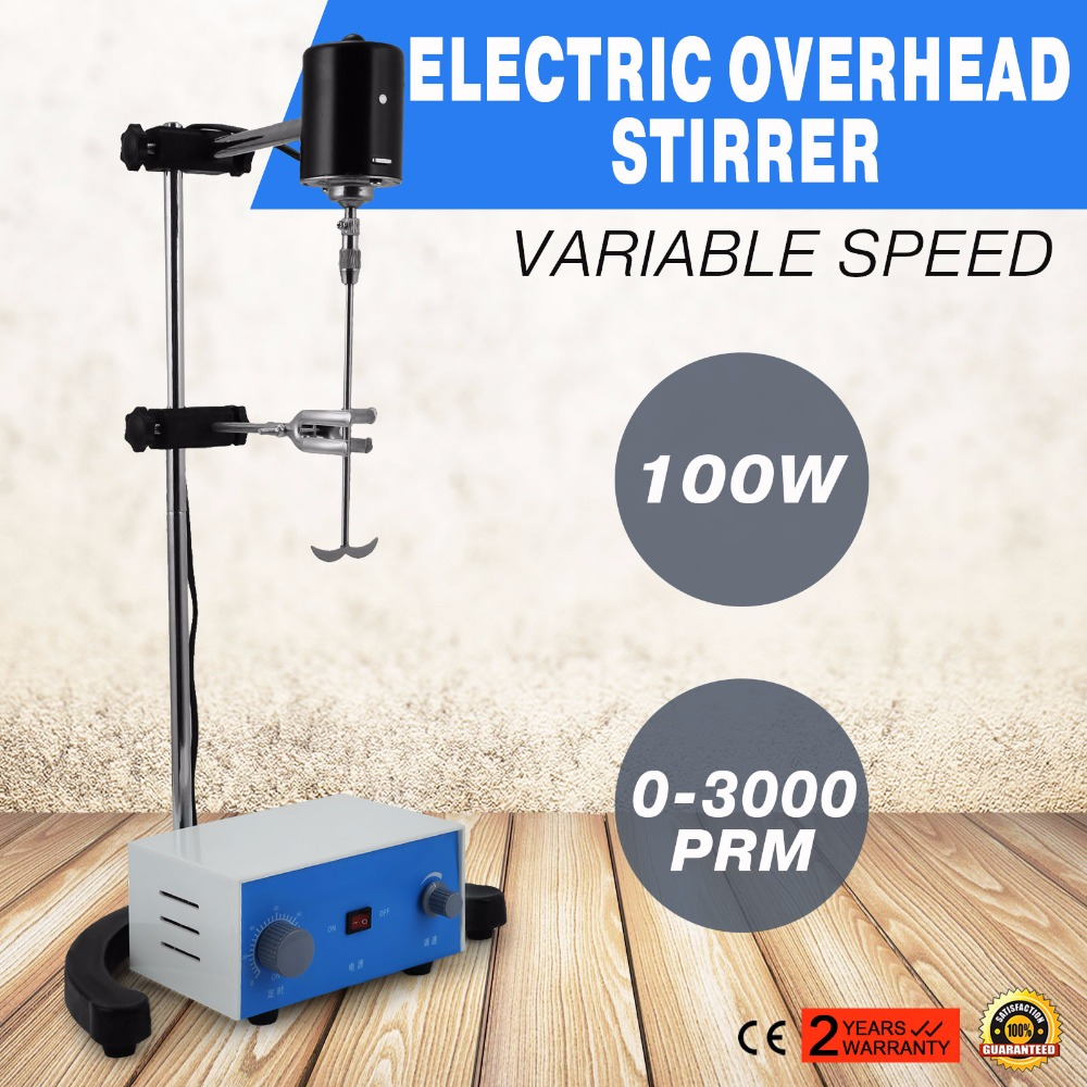 VEVOR Factory Variable Speed Electric Overhead Stirrer for Lab Supply  ON SALE