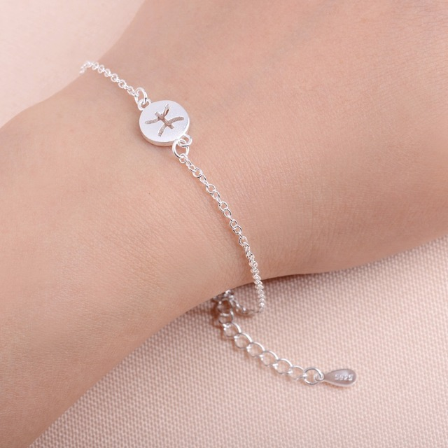 Hfarich Pisces Bracelets 12 Constellation Charm Bracelet For Women Horoscope Astrology Disc Birthday Fashion Homme