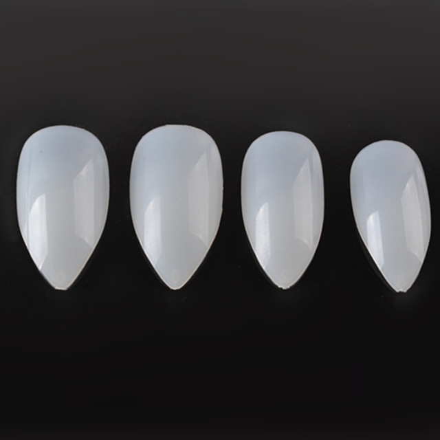 500Pcs/Lot French False Fake Nails Art Tips  Press On Faux Ongles Short Stiletto Artificial Nails Transparent/White/Natural