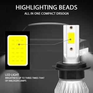 Image 4 - 2 pieces 6500k 8500k 5000k ampoule led h7 h4 h11 h1 h9 9005 9006 hb3 hb4 cob headlights ampolleta led auto 12V 24V Auto Voiture