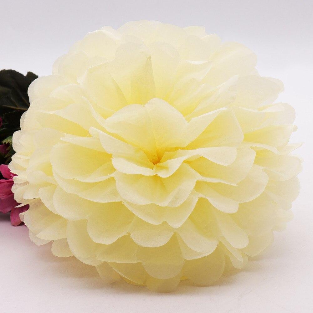 10pcs 4inch10cm Handmade Tissue Paper Pom Poms Paper Flower Ball