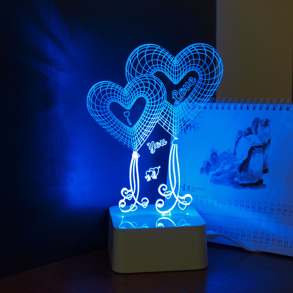 Aliexpress.com : Buy CNHIDEE Valentine's Day Romantic Gifts For Girlfriend Heart Dimmable 3D Led