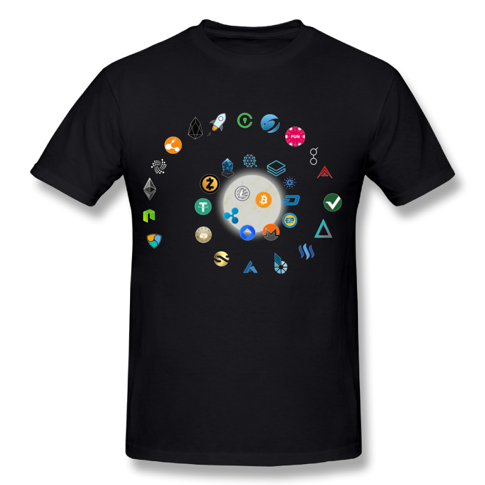 Eat Sleep When Crypto Repeat Cryptocurrency Shirt New Streetwear Mens Round Neck Design Short Sleeve Bitcoin Plus size