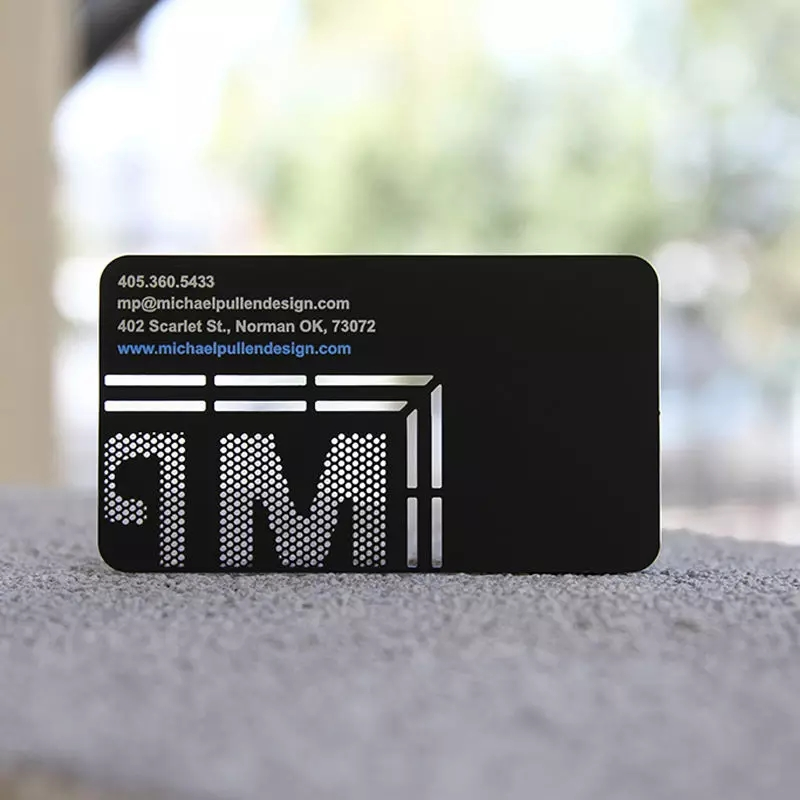 Laser Cut Logo Name Card Black Metal Business Card Wholesale