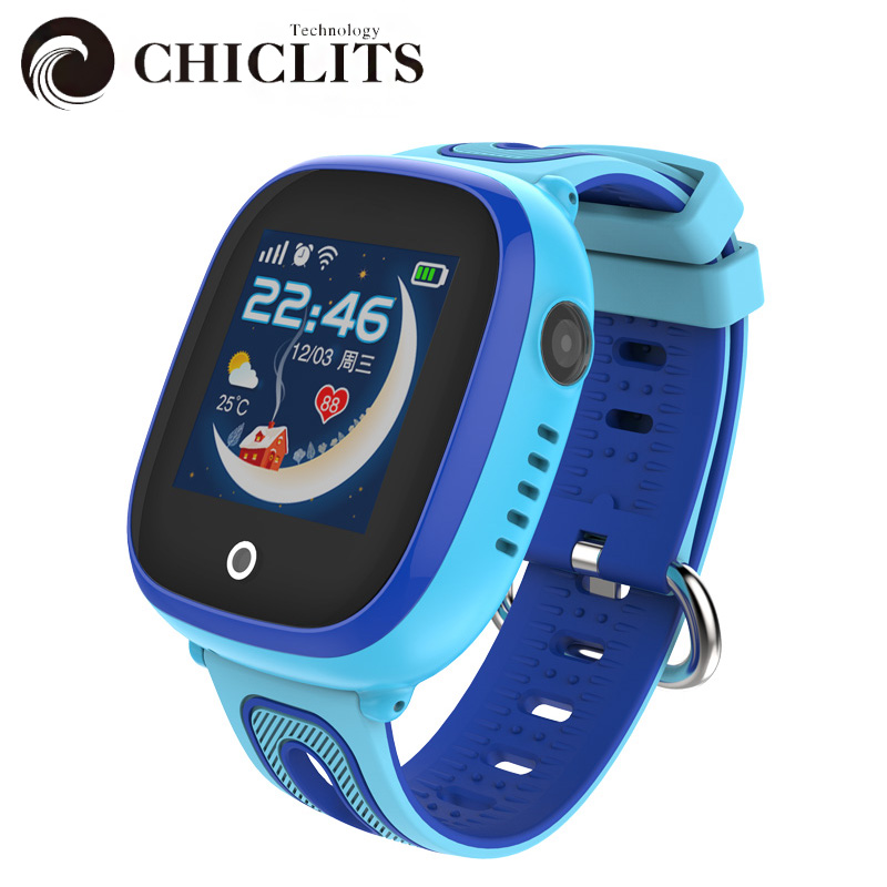 Chiclits Kids Smart Watches GPS LBS Positioning Safe Smart Watche SOS Call Voice calls Anti-lost  IP67 Waterproof Smartwatch DF3 rga r 981 sports watche red