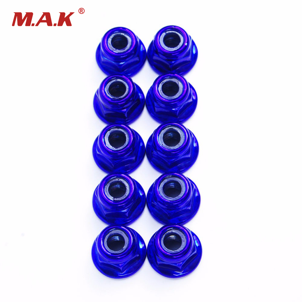 <font><b>1/10</b></font> <font><b>RC</b></font> <font><b>Drift</b></font> Model Car Toys Accessory Anti-Loose <font><b>Wheel</b></font> Rim Metal Lock Nuts HY00004B1 10PCS/set Model Toys Parts image