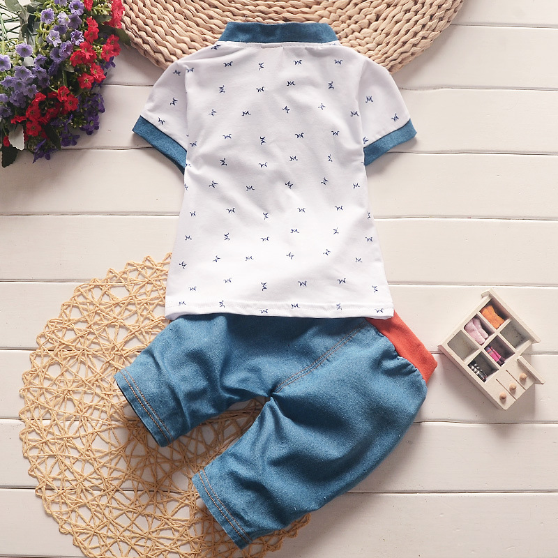6f607ef02 BibiCola baby boys summer clothes newborn children clothing sets for boy  short sleeve shirts + jeans cool denim shorts suit-in Clothing Sets from  Mother ...