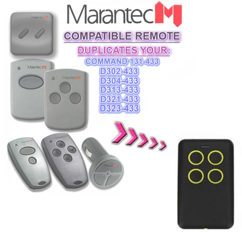 MARANTEC Handheld transmitter garage command controller 868.3 Marantec Digital 868 MHz garage door gate remote control key fobMARANTEC Handheld transmitter garage command controller 868.3 Marantec Digital 868 MHz garage door gate remote control key fob
