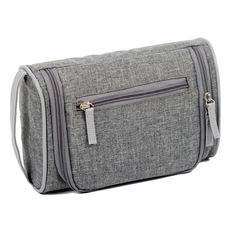 00bd684ac9 Travel Waterproof Cosmetic Bag Men Portable Stereo Type Gray Blue Wash Bath  Toiletry Toilet Organizer Male