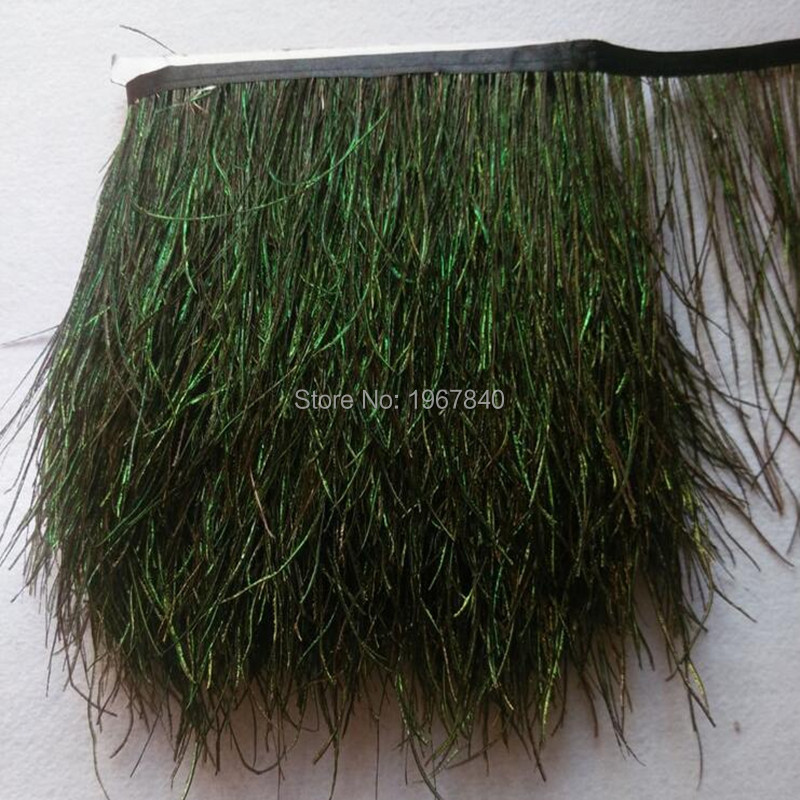 1 Meter Beautiful Peacock Feather Trimming Sideband, DIY Sewing Garments And Handmade Handicrafts